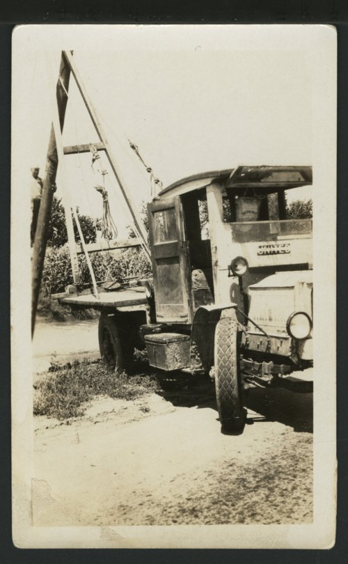 A-frame pole setting truck owned by DS&O Rural Electric Cooperative - Page