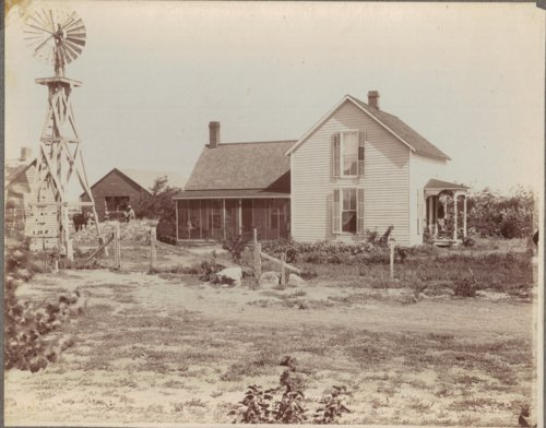 Thomas Bishop Albin's farmhouse and outbuildings located near Grainfield, Kansas - Page