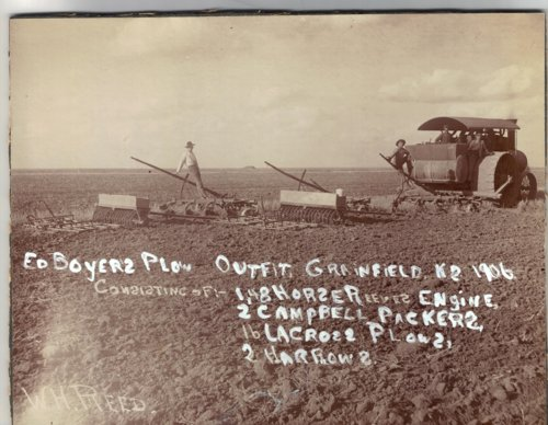 Edwin Boyer's plowing outfit near Grainfield, Kansas - Page