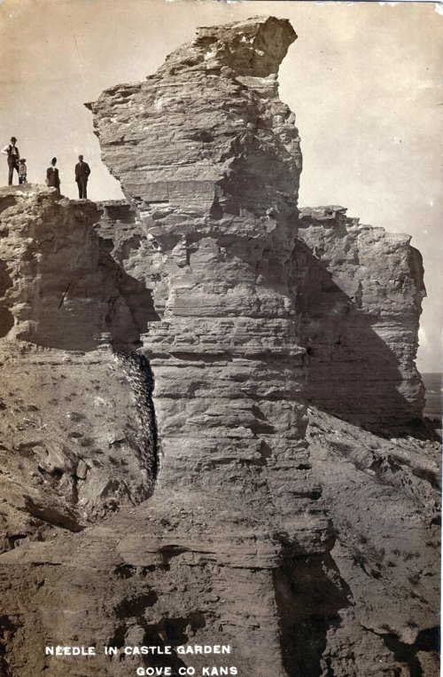 Needle (rock) in castle garden located in Gove County, Kansas - Page