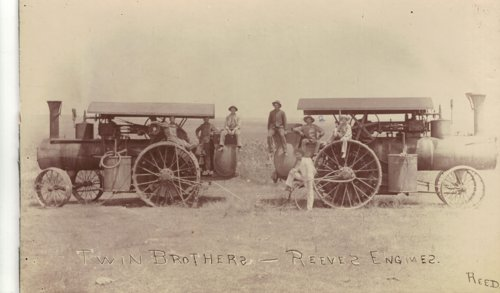Steam engines/tractors on the Thomas Bishop Albin farm near Grainfield, Kansas - Page
