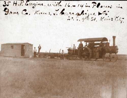 Engine with plows in Gove County, Kansas - Page