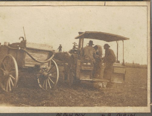 Harvesting on Thomas Bishop Albin's farm in Gove County, Kansas - Page
