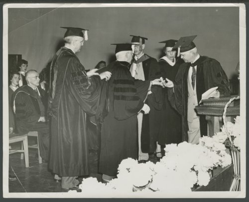 Edward Ray Sloan receiving a honorary doctorate of law at Washburn University - Page
