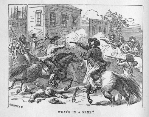 Warfare on a street in Kansas Territory - Page