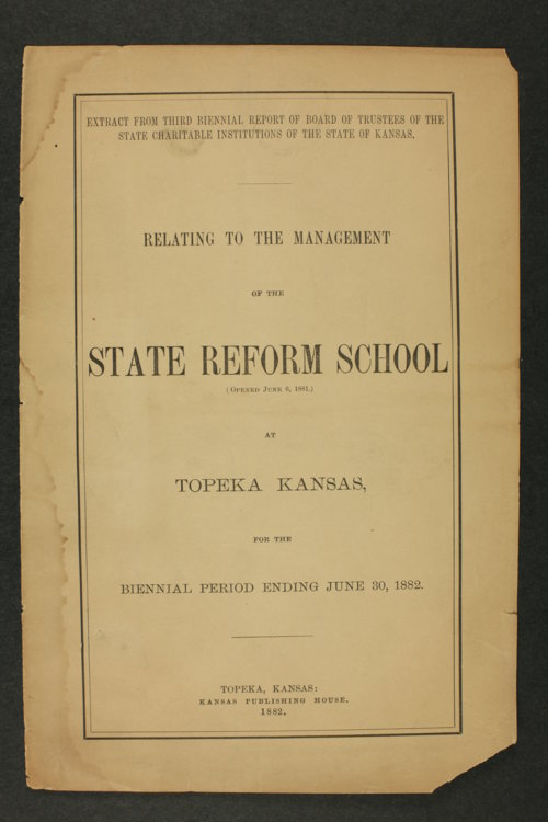 Biennial report of the State Reform School, 1882 - Page