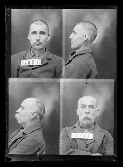 T. Quigley and G. Ellis, prisoners 8944 and 7031, Kansas State Penitentiary - Page
