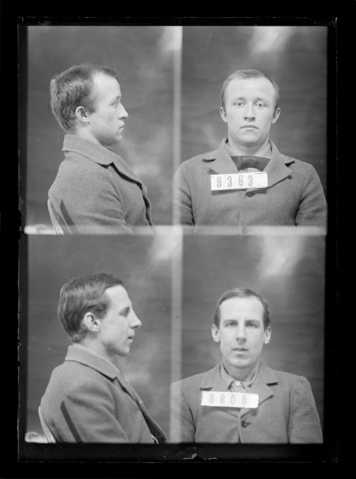 F. G. Gilbert and George Harris, prisoners 8808 and 9363, Kansas State Penitentiary - Page