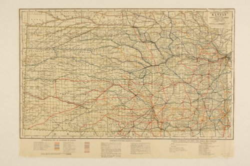 Stouffer's railroad map of Kansas - Page