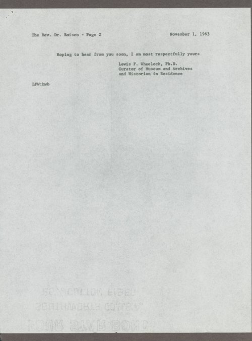Anton T. Boisen papers - Page