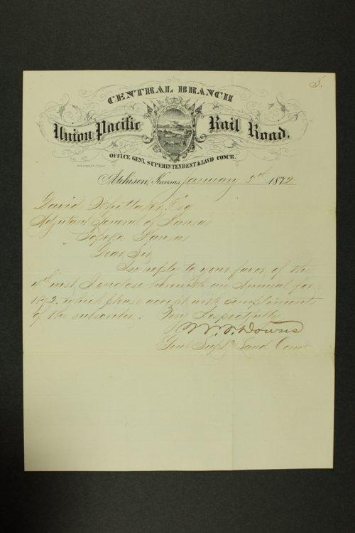 Kansas Adjutant General general correspondence, 1872-1873 - Page