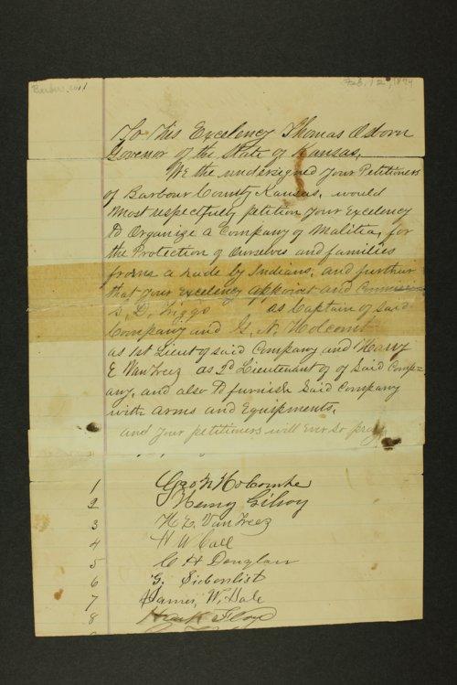 Kansas Adjutant General general correspondence, 1874 - Page