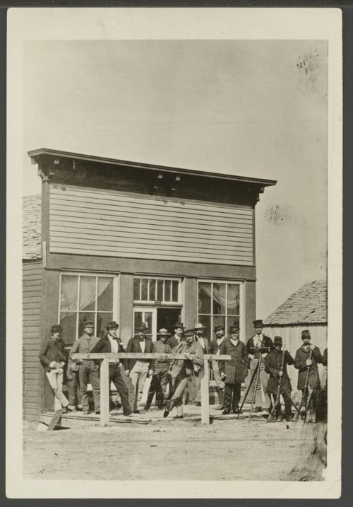 Surveying party in Arkansas City, Kansas - Page