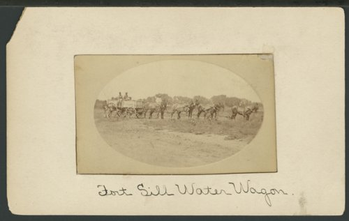 Water wagon at Fort Sill, Indian Territory - Page
