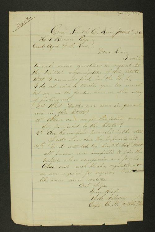 Kansas Adjutant General general correspondence, 1876 - Page