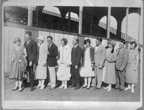 Virgil and Della Barnes with other New York Giant baseball players and wives -