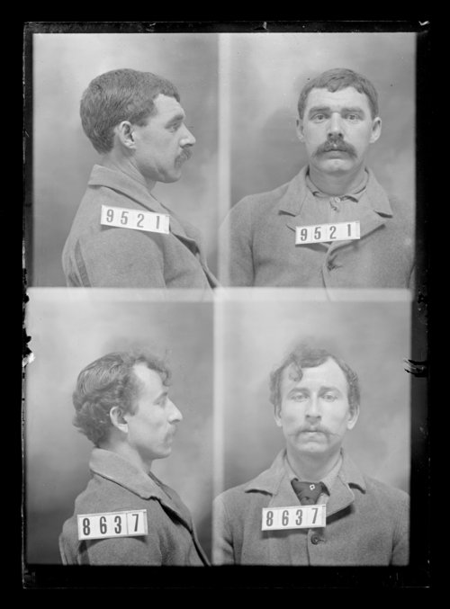 Frank Algood and Leo Rubick, prisoners 9521 and 8637, Kansas State Penitentiary - Page