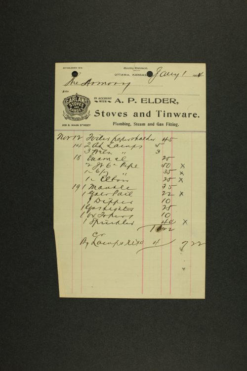 Kansas Adjutant General miscellaneous correspondence - Page