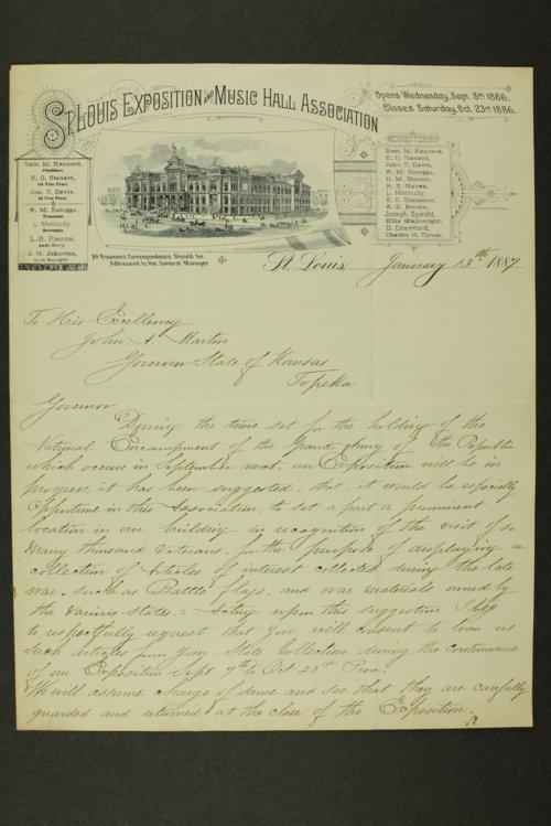 Kansas Adjutant General miscellaneous correpondence - Page