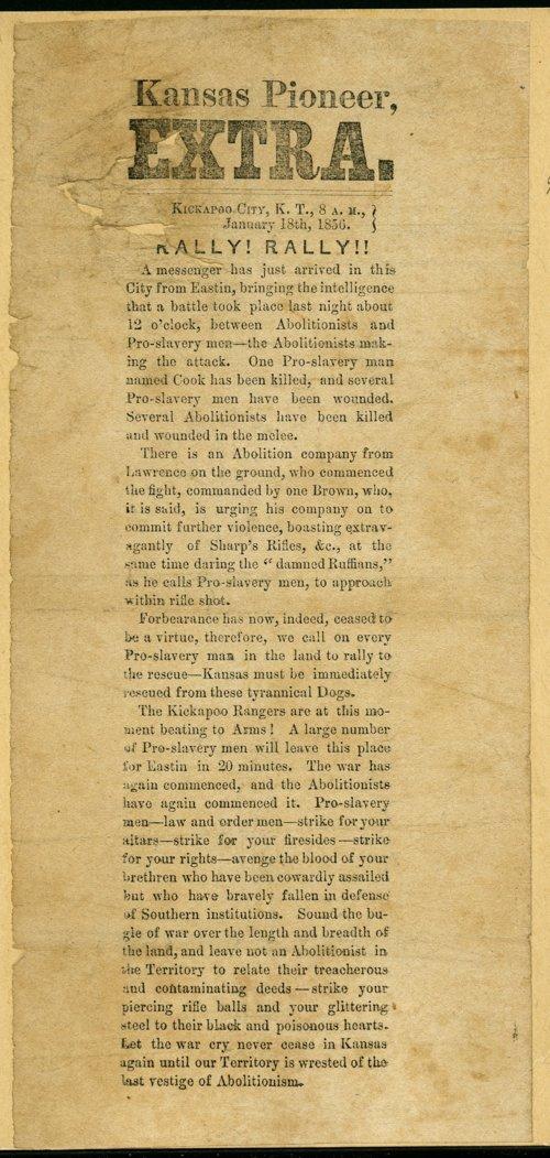 Kansas pioneer, extra - Page