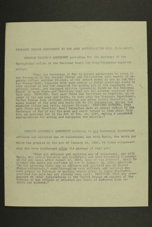 Kansas Adjutant General miscellaneous correspondence - Page