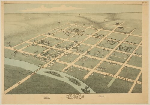 Bird's eye view of Kingman, Kingman County, Kansas - Page