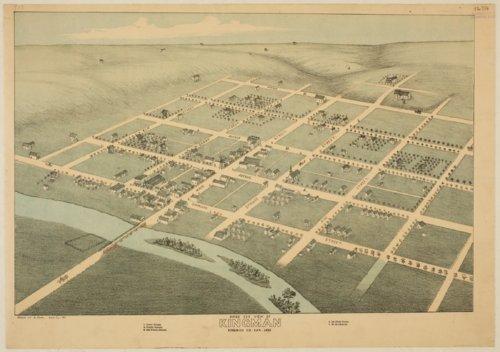 Bird's eye view of Kingman, Kingman County, Kansas - Page