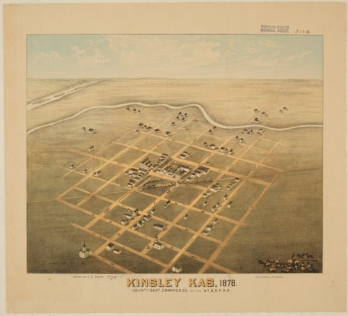 Bird's Eye View of Kinsley, Edwards County, Kansas - Page
