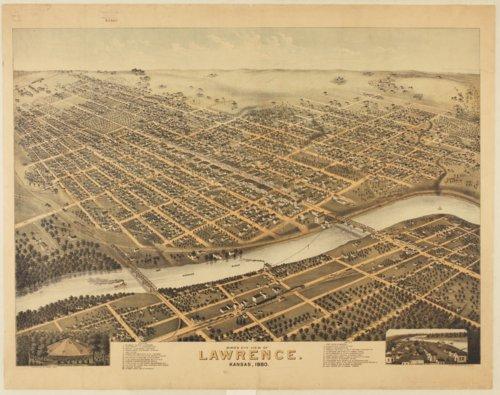 Bird's eye view of Lawrence, Kansas - Page