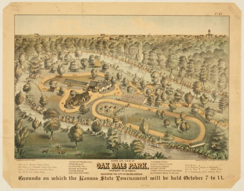 Bird's eye view of Oak Dale Park, Salina, Kansas - Page