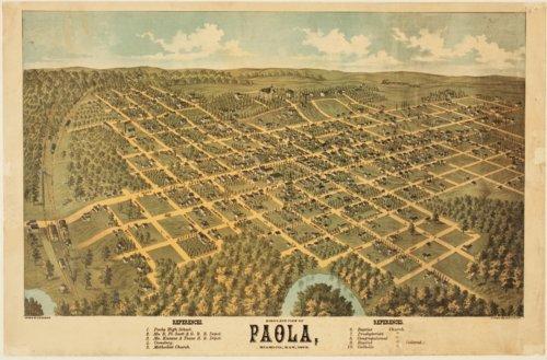 Bird's eye view of Paola, Miami County, Kansas - Page