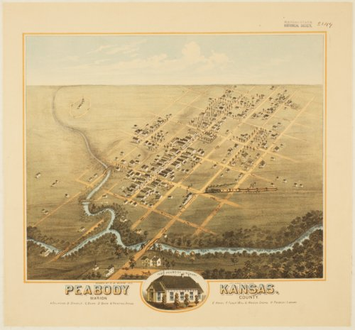 Bird's Eye View of Peabody, Marion County, Kansas - Page
