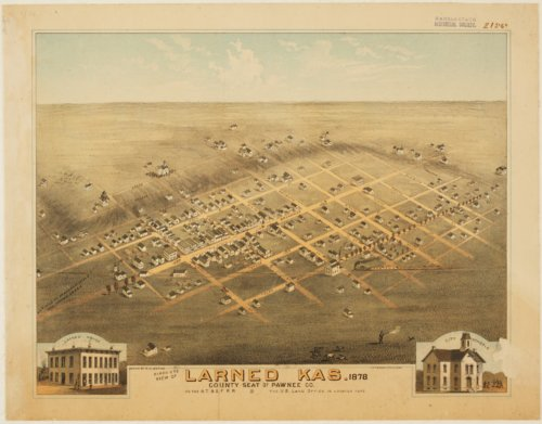 Bird's eye view of Larned, Pawnee County, Kansas - Page
