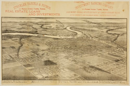Bird's eye view of the city of Topeka, Shawnee County, Kansas - Page
