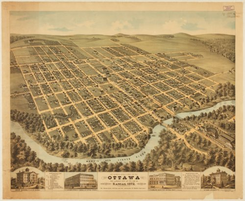 Bird's eye view of Ottawa, Kansas - Page