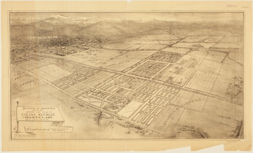 Bird's eye view of Colfax Avenue, Montclaire, near Denver, Colorado - Page