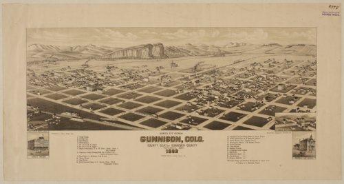 Bird's eye view of Gunnison, Colorado - Page