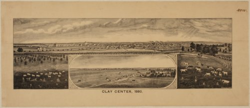 Bird's Eye View of Clay Center, Clay County, Kansas - Page