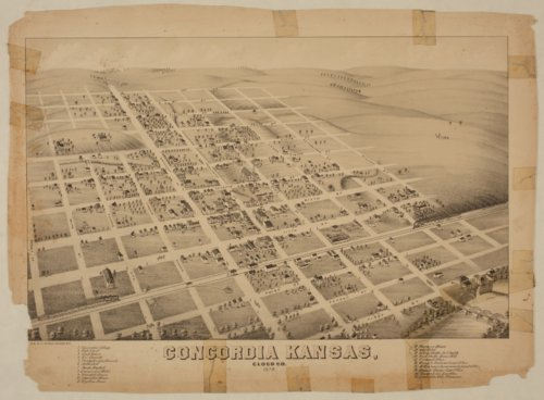 Bird's Eye View of Concordia, Cloud County, Kansas - Page