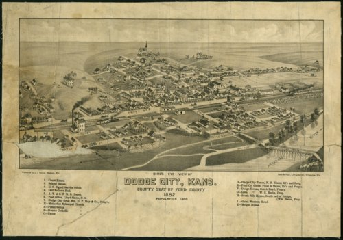 Bird's eye view of Dodge City, Ford County, Kansas - Page