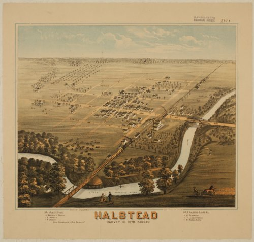 Bird's Eye View of Halstead, Harvey County, Kansas - Page