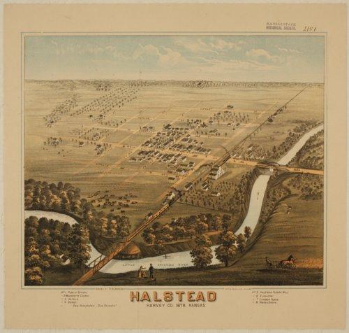 Bird's Eye View of Halstead, Harvey County, Kansas - Page