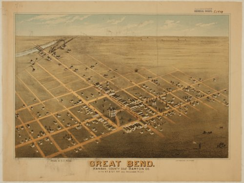 Bird's Eye View of Great Bend, Barton County, Kansas - Page