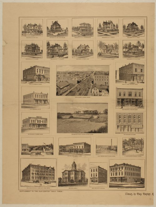 Views of business, industrial, and residential buildings in Clay Center, Kansas, Summer of 1887 - Page