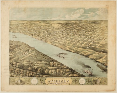 Bird's eye view of the city of Atchison, Kansas - Page