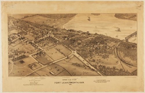 Bird's eye view of Fort Leavenworth, Kansas - Page