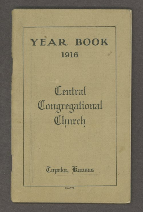 Central Congregational Church yearbooks - Page
