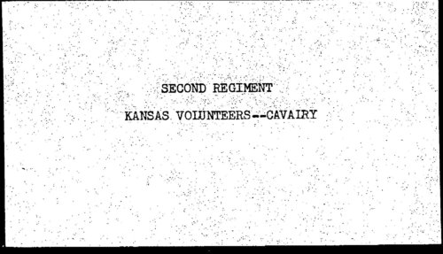 Descriptive roll, Second Regiment, Cavalry, Kansas Civil War Volunteers, volume 2 - Page