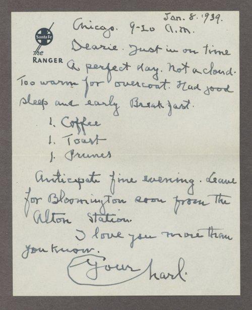Mary M. Sheldon correspondence - Page