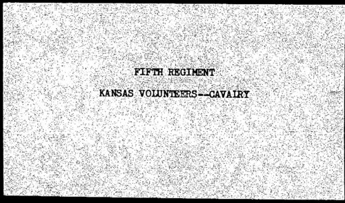 Descriptive roll, Fifth Regiment, Cavalry, Kansas Civil War Volunteers, volume 4 - Page